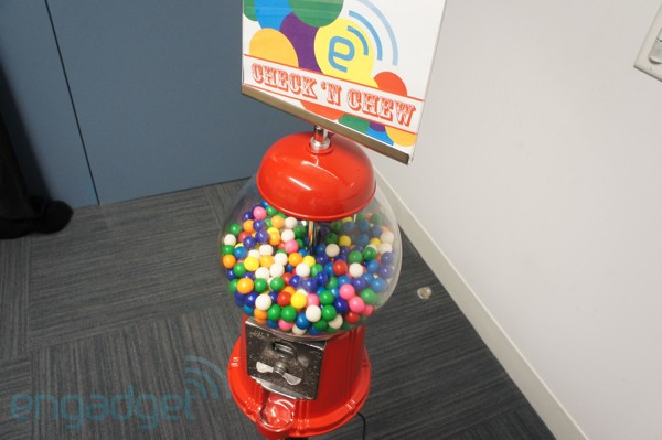 Check 'N Chew Foursquare-enabled gumball machine hands-on