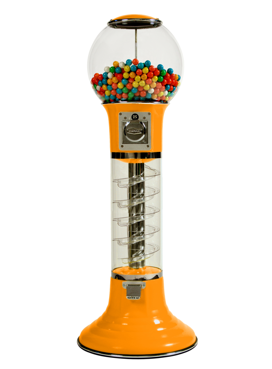 Wiz-Kid 4' Vending Machine from Global Gumball Tangerine